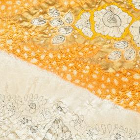 辻が花の絵羽模様の画像